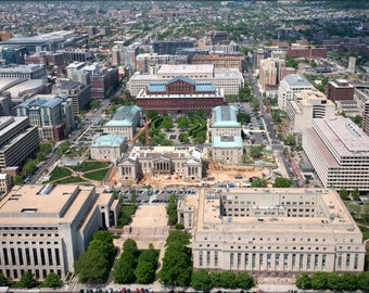 16x24 Poster; Aerial View Of Judiciary Square