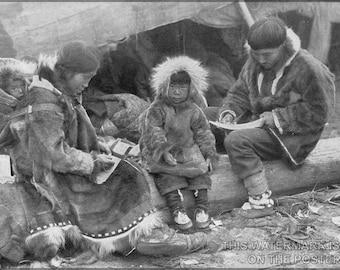 16x24 Poster; Inuit- Eskimo Family 1917