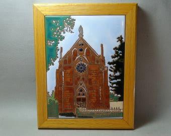 Debora Durin Geiger Loretto Chapel Santa Fe Framed Ceramic Tile