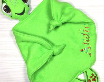 Personalized Turtle Lovey Blanket ~ Multiple Colors Availavle