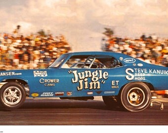 Vintage Reproduction Racing PosterJungle Jim Lieberman 1970 Nova
