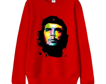"""Men Sweatshirt, Women Sweatshirt, Gift for him, Gift for her """"Retro Portrait of Che Guevara"""" Japanese Foodie Culture French Terry Sweater"""