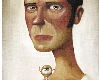 The eye, Digital illustration, Print