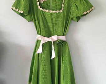 Vintage Square Dance Dress/Vintage Dress