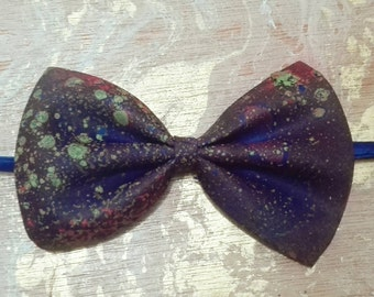 Psychedelic bow tie hand painted