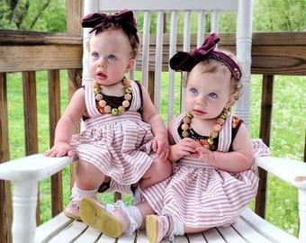 Striped Suspender skirt, Baby girl suspender skirt, babygirl skirt, skirts, strips