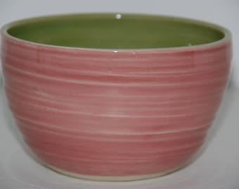 Handmade pottery bowl. Handmade ice cream or cereal bowl.