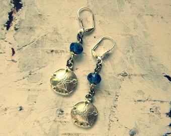 Sand Dollar Jewelry, Sand Dollar Earrings, Sealife Earrings, Sealife Jewelry, Ocean Jewelry, Ocean Earrings, Beach Earrings, Beach Jewelry