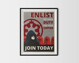 Star Wars: Palpatine Propaganda Poster