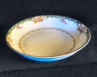 Noritake Porcelain Soup Bowl in the Estelle pattern circa 1918