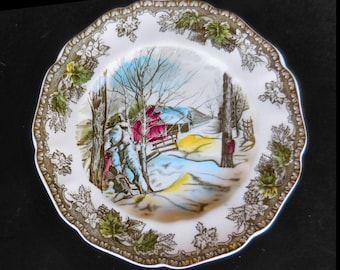 "Friendly Village Ironstone Bread and Butter Plate ""Sugar Maples""  by Johnson Bros."