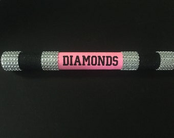 Personalized Cheerleading Spirit Stick - Cheer Stick - Pink and Black Spirit