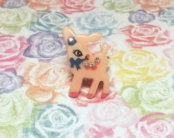 Pink Deer Lolita Ring