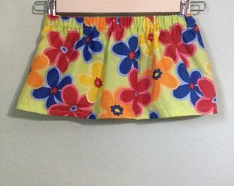 Flower Patterned Baby Skirt