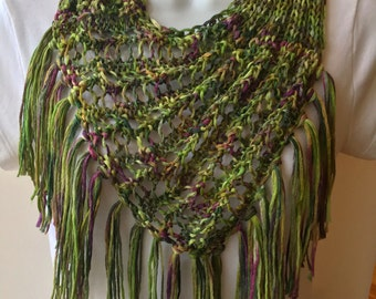 The Norma Jean Hand Knit Scarf/Cowl with Fringe