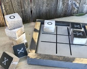 Rustic Wood Tic Tac Toe Game, Outdoor Games, small