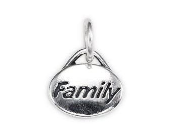 "Sterling Silver ""Family"" Message Charm"