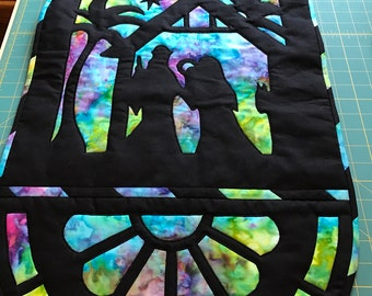 Stain glass wallhanging