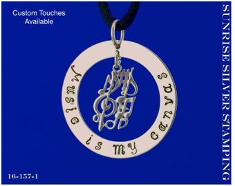 Composer Gift, Musician Necklace, Music Teacher Gift, Music Student Gift, Song Writer, Gift for Music Lover, Music Symbols, Music Notes