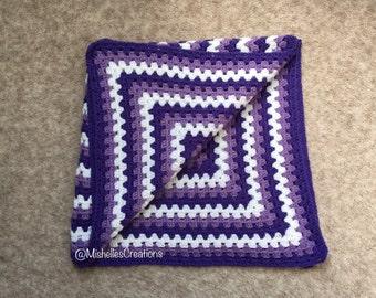 Crochet Baby Blanket, Crochet, Handmade, Baby Blanket, Granny Square BKS006