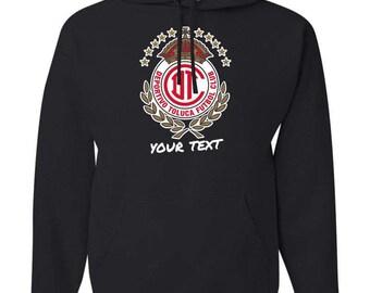Toluca Diablos Mexico Hooded Sweatshirt Hoodie Hoody Sudadera With Custom Text(optional)