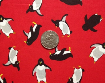 3 Yards 100% Cotton Fabric Penquin Print