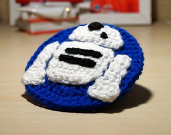 R2D2 Crochet Patch Pattern PDF, Star Wars Costume, Starwars Accessories, C-3PO, Geeky Gift, Star Wars Badge, Star Wars Patch, Geek Gift