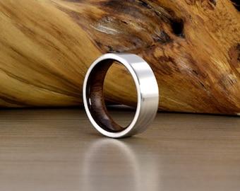 Cobalt & American black walnut Ring //SE// Men's Wedding Ring // Men's Wedding Band // Women's Wedding Ring // Men's Ring // Wedding Band