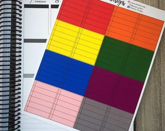 Colorful Notebook Paper-Style Stickers