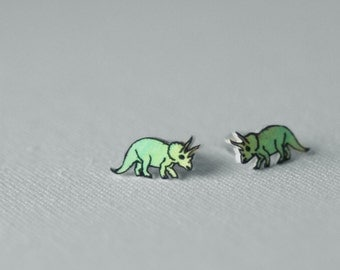 Gradient Dinosaur Earrings