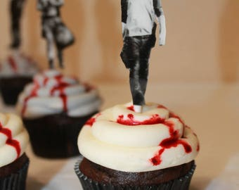Walking Dead Cup Cake Toppers (12 pieces)