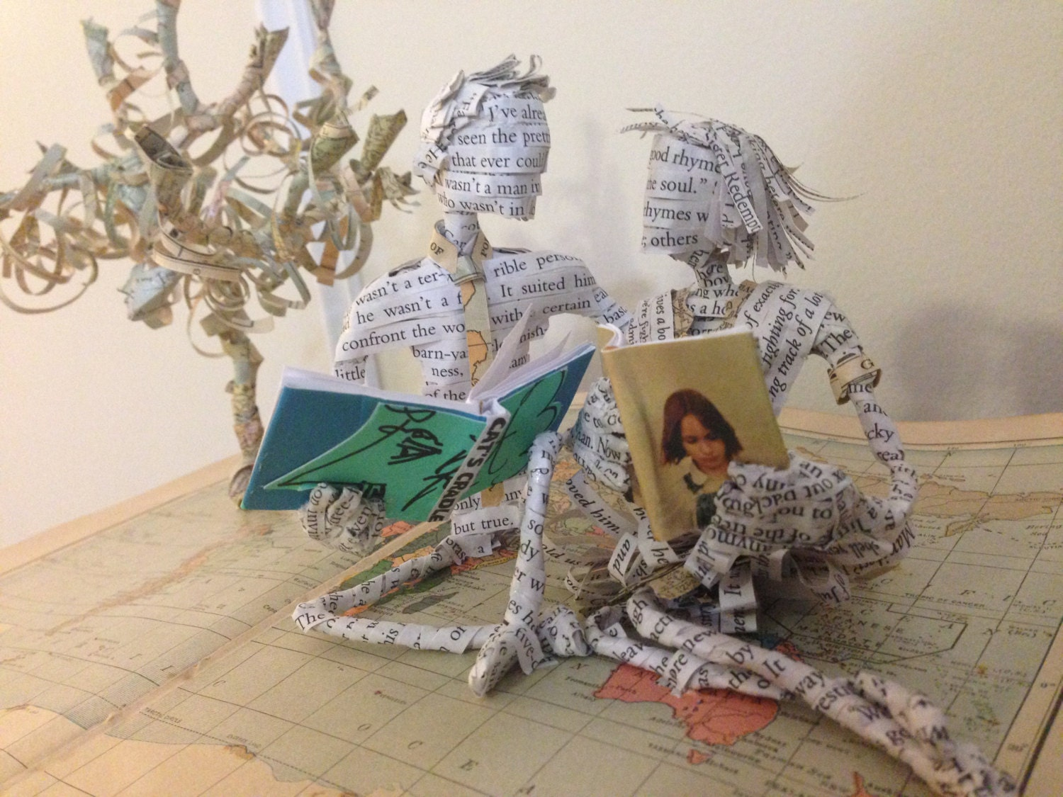 Book Sculpture Couple Anniversary Gift