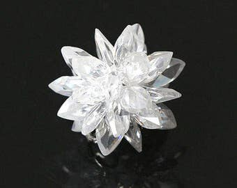 Snkow Flake Cubic Zirconia  14mm Crystal [1 piece]