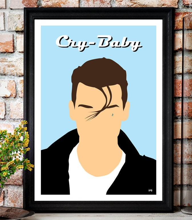 Cry Baby // Johnny Depp // Minimalist Movie Poster // Unique A4 / A3 Art Print