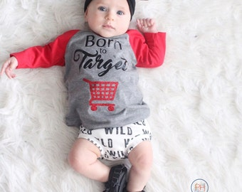 Born To Target Bodysuit or Tee, Mommy's shopping buddy, One-Piece Outfit, Baby Shower Gift, Newborn Tee