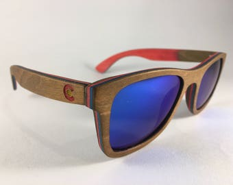 Colorado Sunglasses Wood Wooden Sunglasses Colorado Flag Accessories Polarized Sunglasses Bamboo Sunglasses Groomsmen Gift Colorado Gift