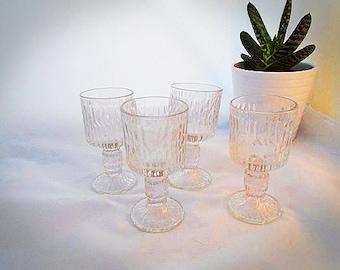 Vintage bark glasses~retro bark glasses~vintage bar ware~retro bar ware~mid century glasses~Scandi style glasses