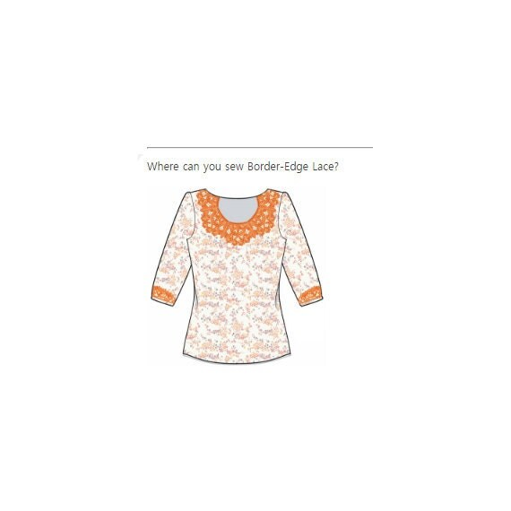 Stand Alone Embroidery Designs : Neckline lace stand alone embroidery machine
