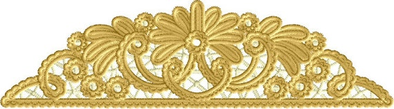 Stand Alone Embroidery Designs : Border edge stand alone lace embroidery machine