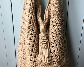 Crochet Bag PATTERN, Boho Bag Crochet Pattern, Crochet Bag, Slouchy Bag, Bag with Long Strap, Handbag, Crochet Purse PDF, Summer Bag, Beach