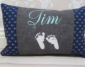Baby pillows, pillow of name + name of 20 x 30 cm