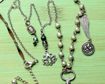 Hand made Silver Charm Necklace