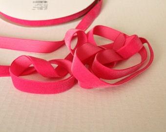 5/8 inch  Azealea Pink Velveteen Ribbon / Pink Velvet / VYM58-156