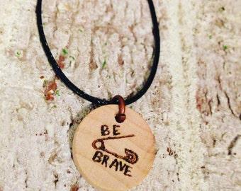 Be Brave Safety Pin Necklace