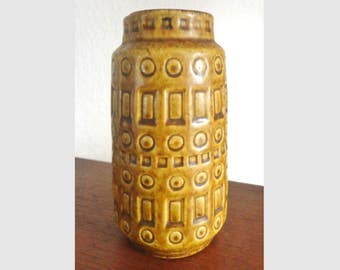 70s Vintage Scheurich Inka Vase // West Germany // 260-15