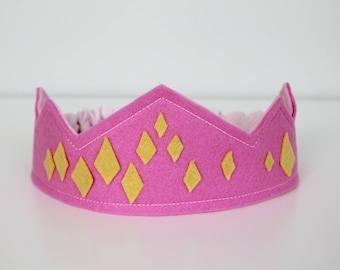 Diamond Felt Crown, Wool Crown, Waldorf Birthday Crown, Birthday Crown, Dress-up, Queen Crown, Princess Crown, Costume