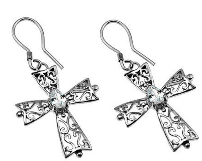 CZ Phillagree Earrings
