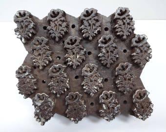 Wood Block, Wooden Block, Wood Printing Block, Textile Print Block, Printing Block, Hand Carved Block, Indian Textile Block, Fabric Printing