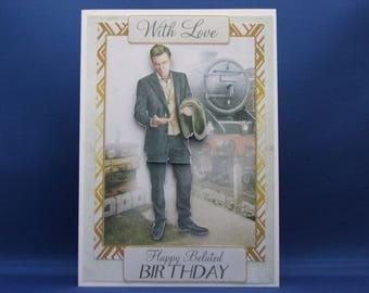 Art Deco Belated Birthday Card, Art Deco Card, Belated Birthday Card, Art Deco Belated Birthday,