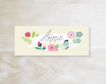 TABLE MAP 01 · 10 x 4 cm · playful floral motif